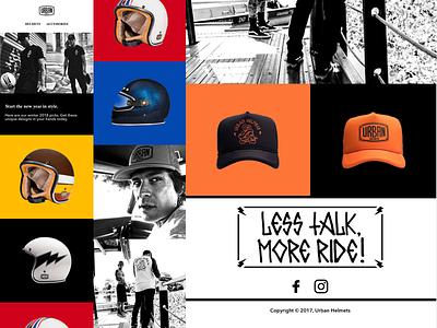 Urban Helmets Email Design lifestyle helmets marketing design sketch mailchimp desktop email mobile email