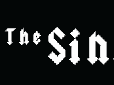 AD/DC type logo gothic font bnw type design logo design addc