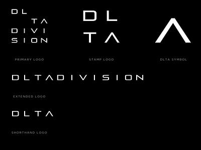DLTA DIVISION LOGO typeface music label edm miami heat division delta dlta logodesign logotype future space pirulen type logo