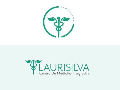 Laurisilva Logo medicina medicinal canary islands caduceus emblem logo mr eves mod ot green spanish integrativa yoga holistic medicine medical