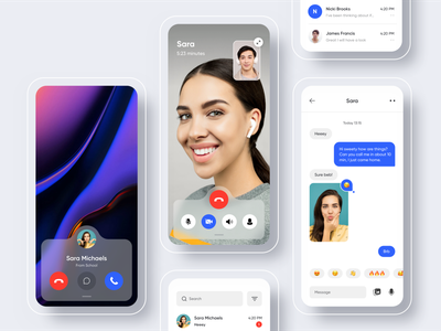 Facetime smiling face smile emoji mobile app design interaction design iphone 10 iphone x mobile app video chat phone call apple iconography email messages message imessage video call facetime