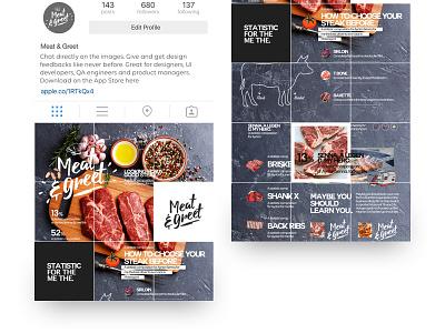 Meet & Greet Infographic meat uiux ux ui infographic food
