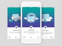 Onboarding Library App Screens