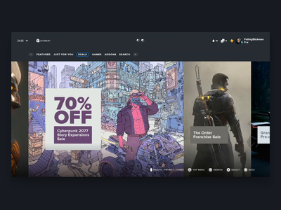 Playstation 5 Interface Concept - Store Deals Preview deals ps5 playstation gaming console animation adobe xd