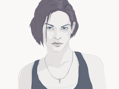 Jill Valentine gaming pc xbox playstation game illustration character
