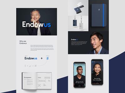 Endowus - branding and UX/UI design branding design finances fintech brandbook logo ui branding ux
