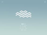 """Avant-garde"" weather app - cloudy"