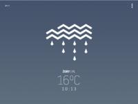 """""""Avant-garde"""" weather app - rain"""