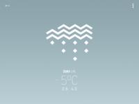 """Avant-garde"" weather app - snow"
