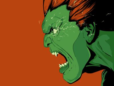 Blanka monster portrait fighter illustration vector character game street fighter blanka