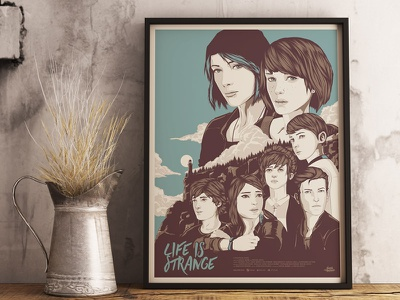 Life Is Strange video game teens portrait illustration vector character game life is strange
