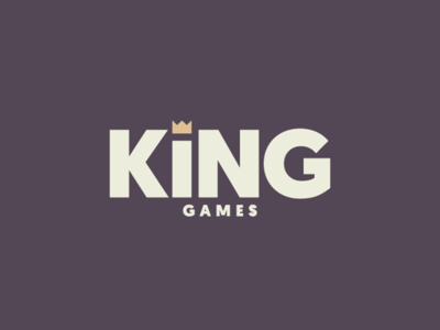 King Games Logo board games king crown visual identity branding games logo