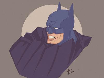 Batman moon cowl cape dark knight character comic batman photoshop illustration