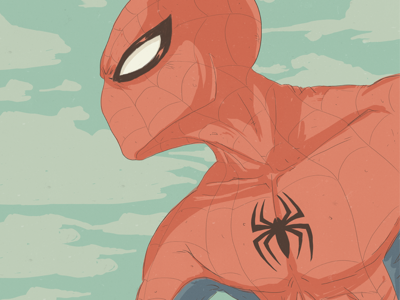 Spidey marvel character pastel illustration spiderman comic