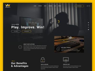 eMasters website concept esports gaming ui web design website