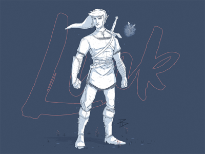Link Illustration wip hyrule the legend of zelda character game link photoshop illustration