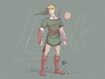 Link Illustration (Colour) wip hyrule the legend of zelda character game link photoshop illustration