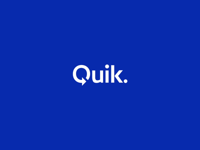 Quik. logo redesign automotive redesigned identity logotype corporate identity branding logo