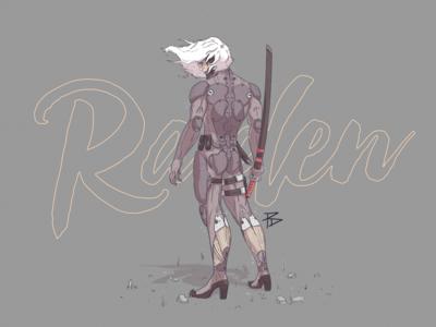 Raiden raiden metal gear solid photosop character game illustration