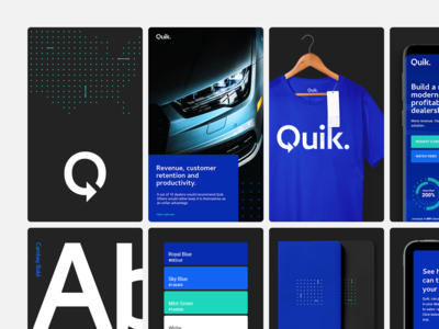 Quik - Visual Identity - Behance Case Study branding typography product design collateral automotive logotype key visual logo case study branding and identity