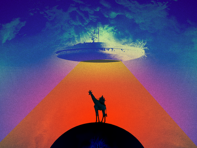 pyramid cycle [firmament level] beam palm ufo temple giraffe collage