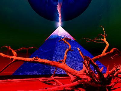 pyramid cycle [earthen axis] driftwood tree skeleton plasma tongue beach pyramid