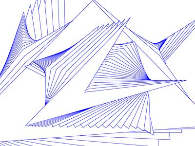 Exploded formulation arrangement line machine art abstract blend illustration