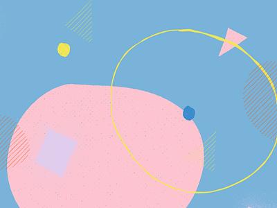 Glandular tectonics [solidification phase] pastel abstract illustration
