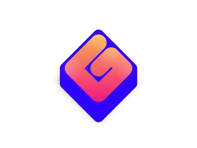 G worm isometric lettering design logo