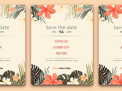 OSV Annual Picnic summer luau hawaii hawaiian print layout graphic picnic orange poster