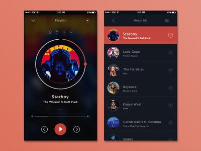 Music Player with Lyrics Mobile UI Kit - UpLabs