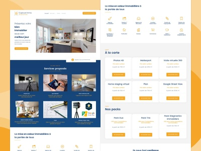 Capture Immo real estate housing logo design website