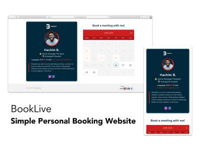 BookLive personal trainer personal website appointment booking scheduling booking app