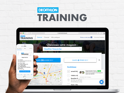 Decathlon Training zumba pilates yoga fitness coach coaching sport ui ux web design training decathlon