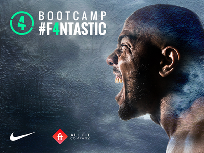 Bootcamp #F4NTASTIC graphic design nike training ntc gym sport coach coaching trainer training bootcamp nike
