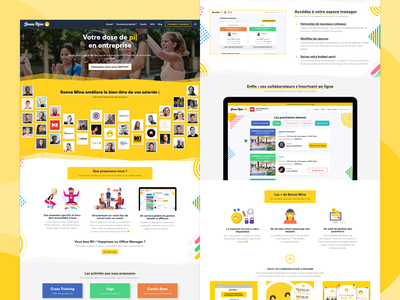 Bonne Mine company website yellow happiness ui design startup branding