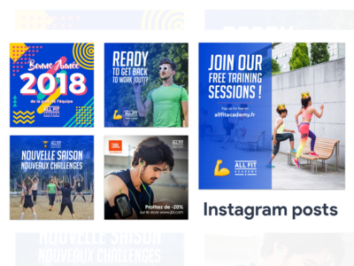 Instagram posts for All Fit Academy