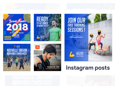 Instagram posts for All Fit Academy personal trainer sports coaching instagram post instagram