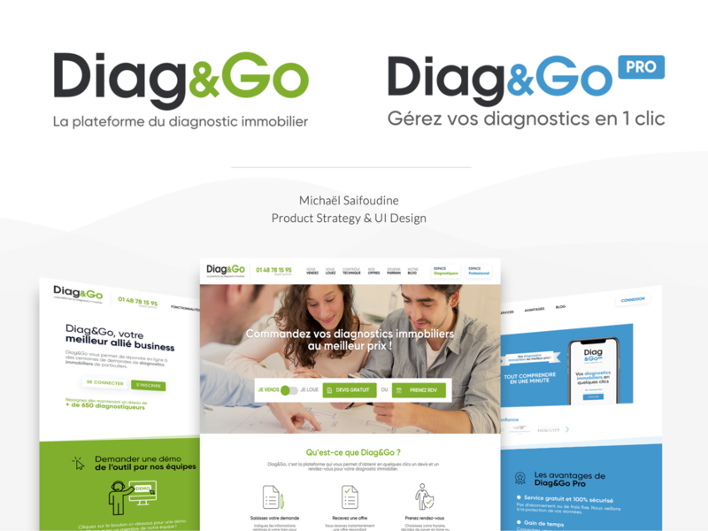Diag&Go - UI Design Website website ui