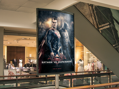 Batman vs Superman digitalart poster art poster superhero superman batman v superman batman
