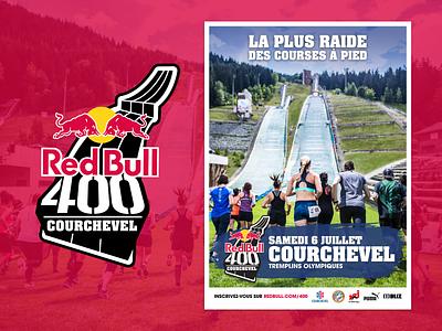 Red Bull 400 Courchevel - Poster courchevel redbull400 redbull event branding event sport poster