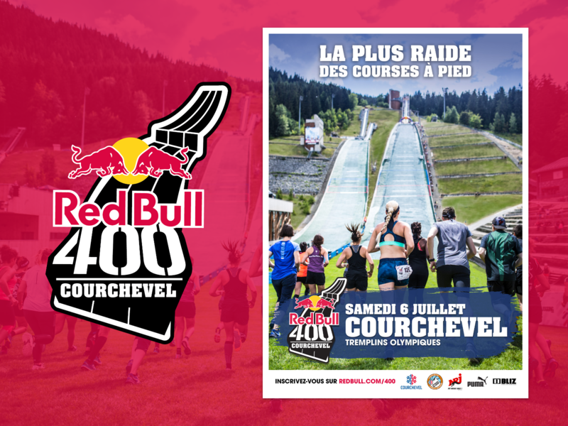 Red Bull 400 Courchevel - Poster courchevel redbull400 redbull event branding event sport poster