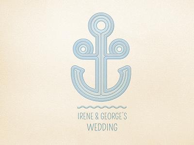 Wedding Anchor wedding logo anchor blue sea waves irene george lines smooth elegant