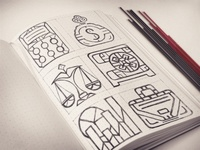 Banking Icons Sketch