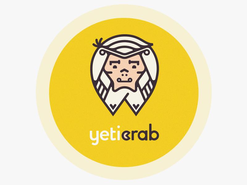 Logotype for Yeti Crab cute monolines vector logotype crab yeti mark logo