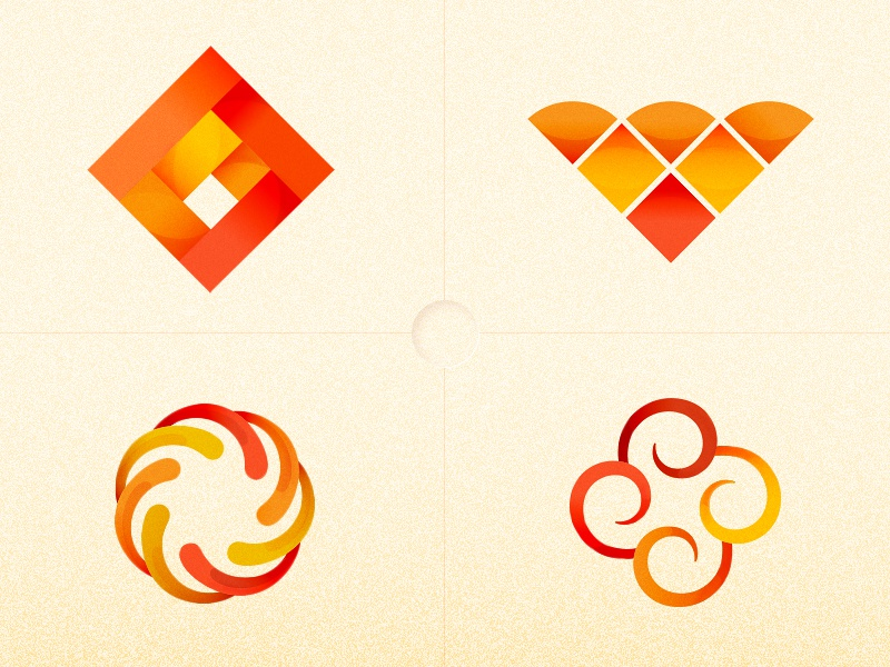 Unused symbols and marks fire geometry identity symbol logo mark vector