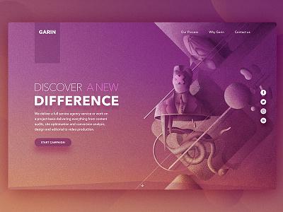 Garin Studio. SMM agency landing page Static web ui ux web design landing page agency smm seo interface