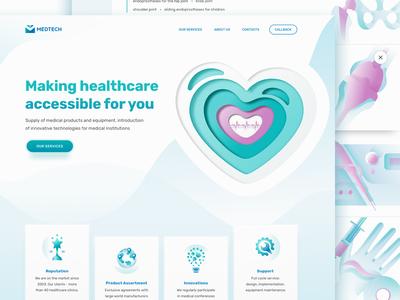 Medical Equipment Distributor Landing Page