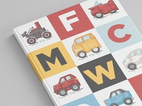 Book Cover. Car icon illustration.
