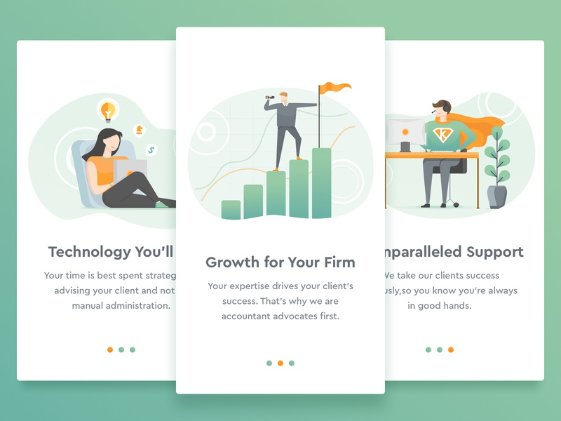 Featured Card / Marketing Tasks for Payroll, HR SAAS company hr company strategy support illustrations firm growth accountants user friendly software saas payroll
